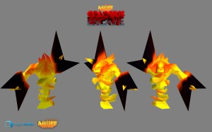 Male Fire Elemental 3D