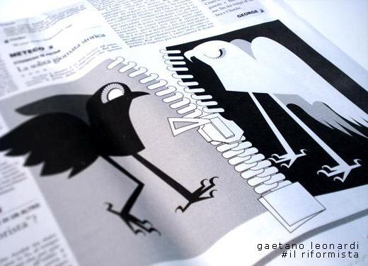 illustrazione per Il Riformista